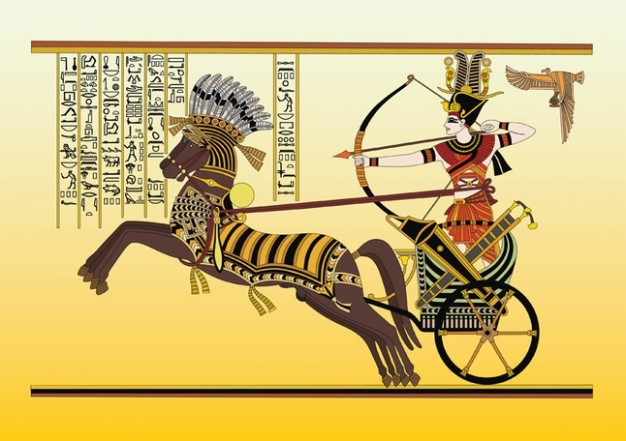 Egyptians drive chariots, not cars!